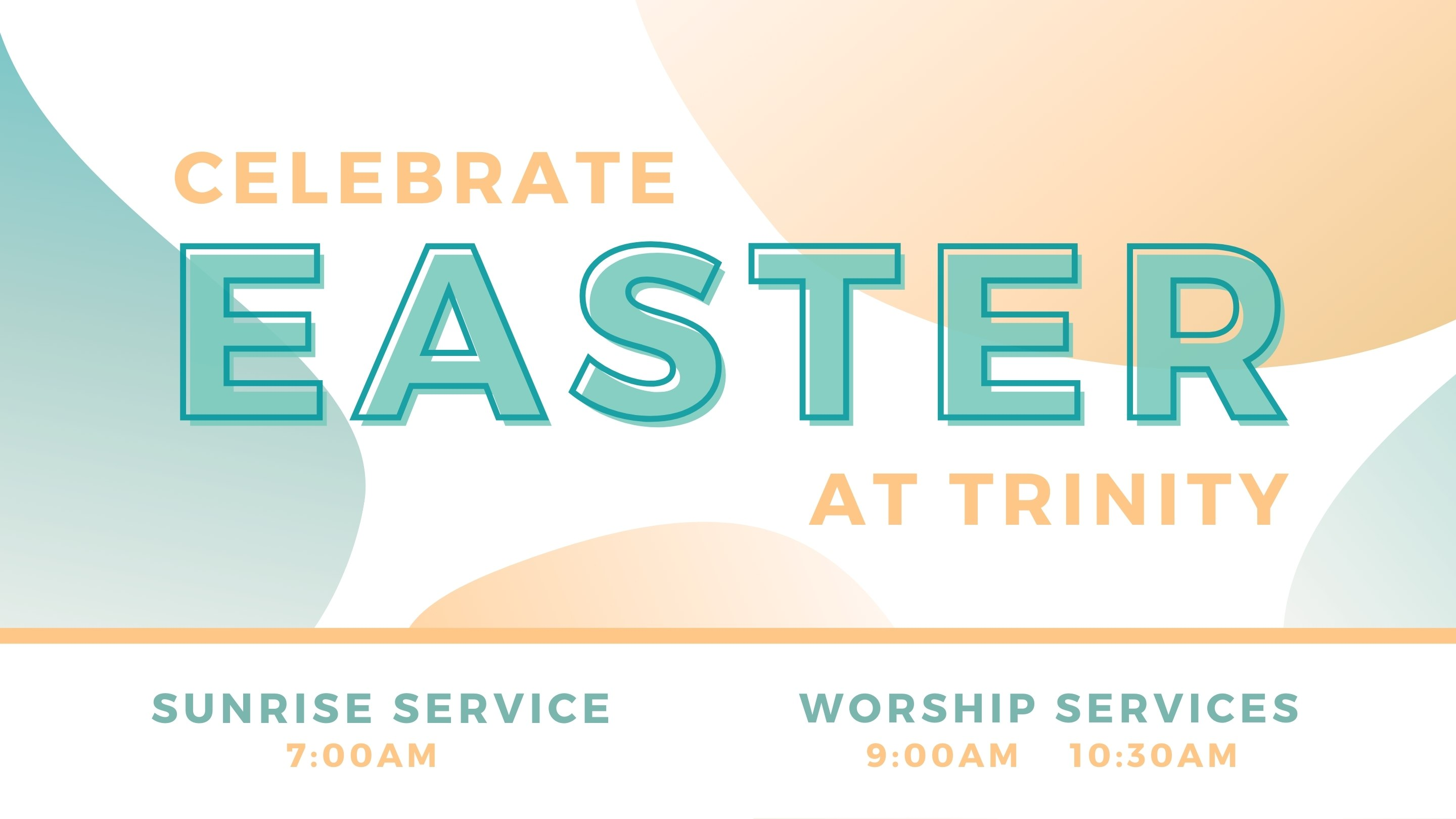 2021 Easter Services screen image