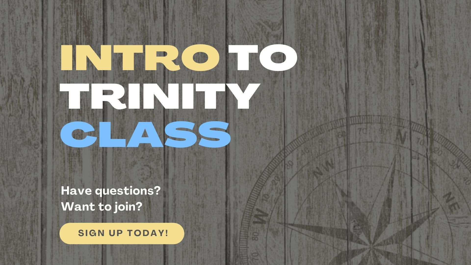 Intro To Trinity Class Screen