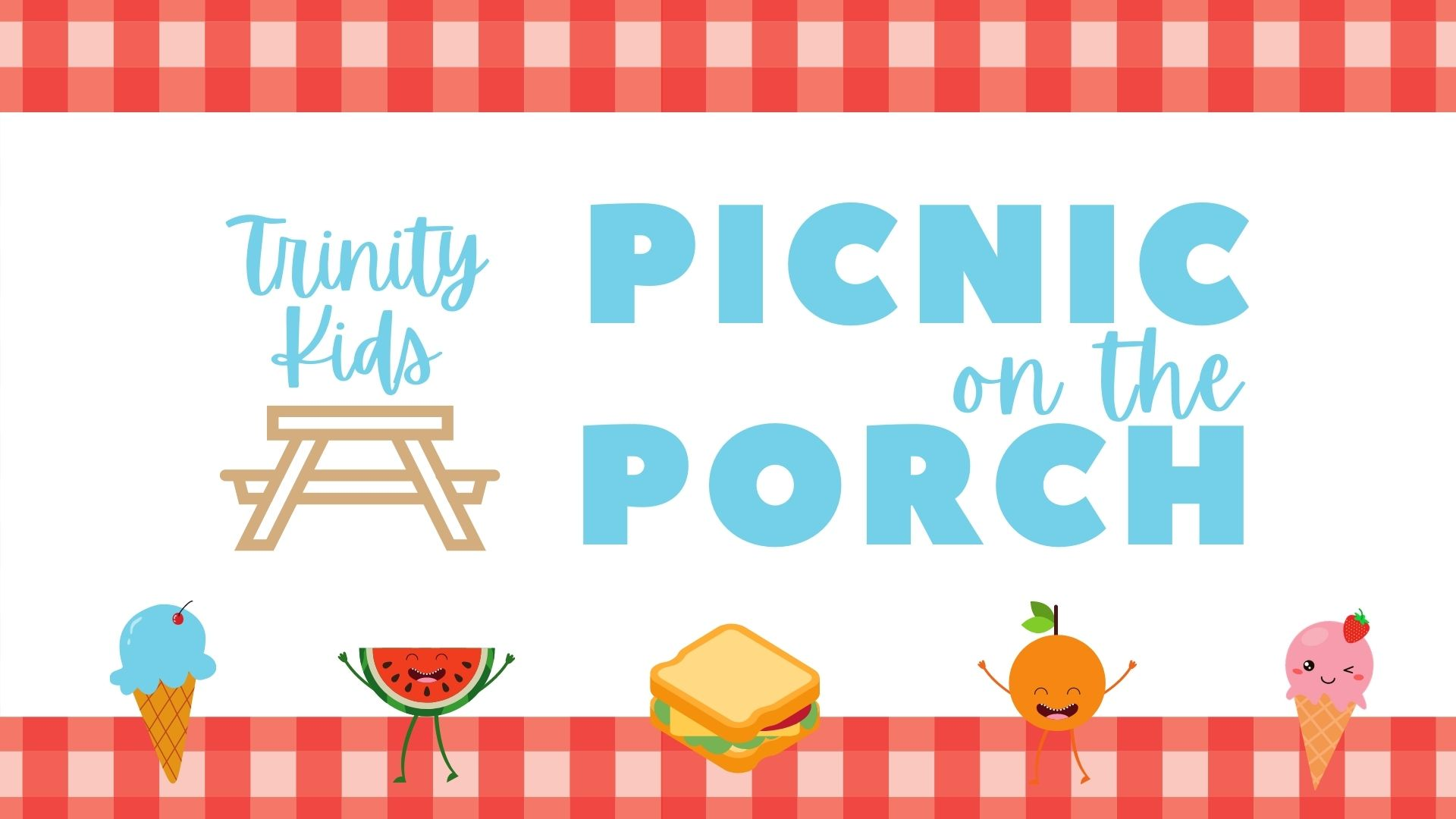 Kids Picnic on the Porch image