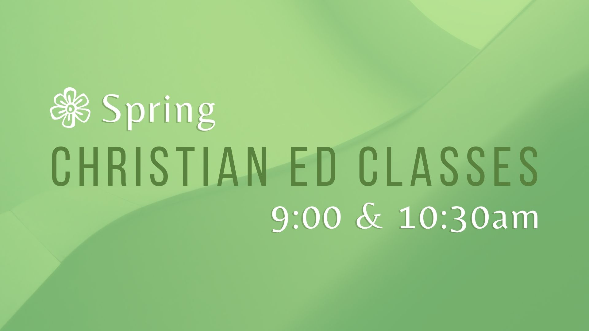 Spring 2021 Christian Ed Class Screens image