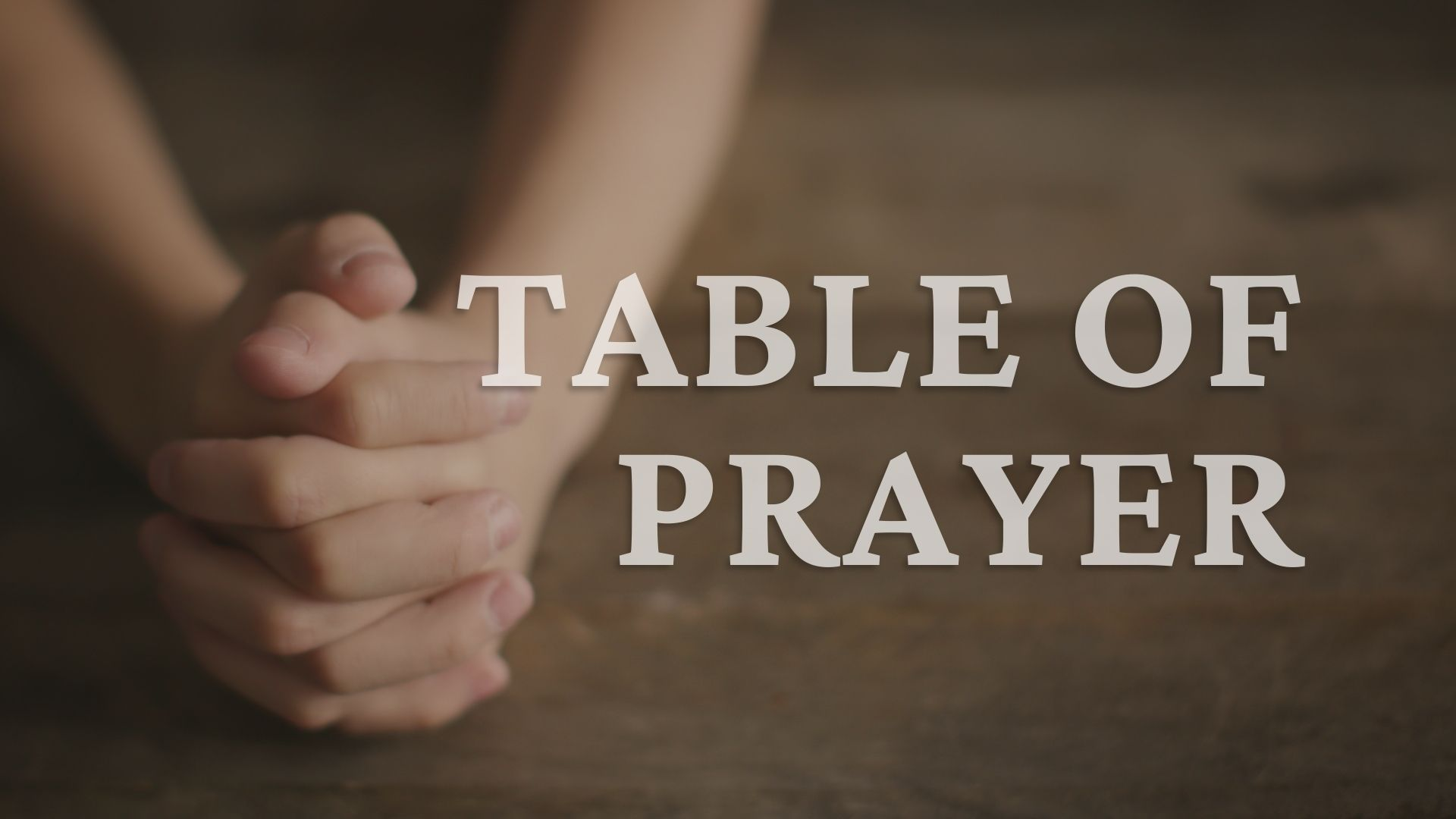 Table of Prayer