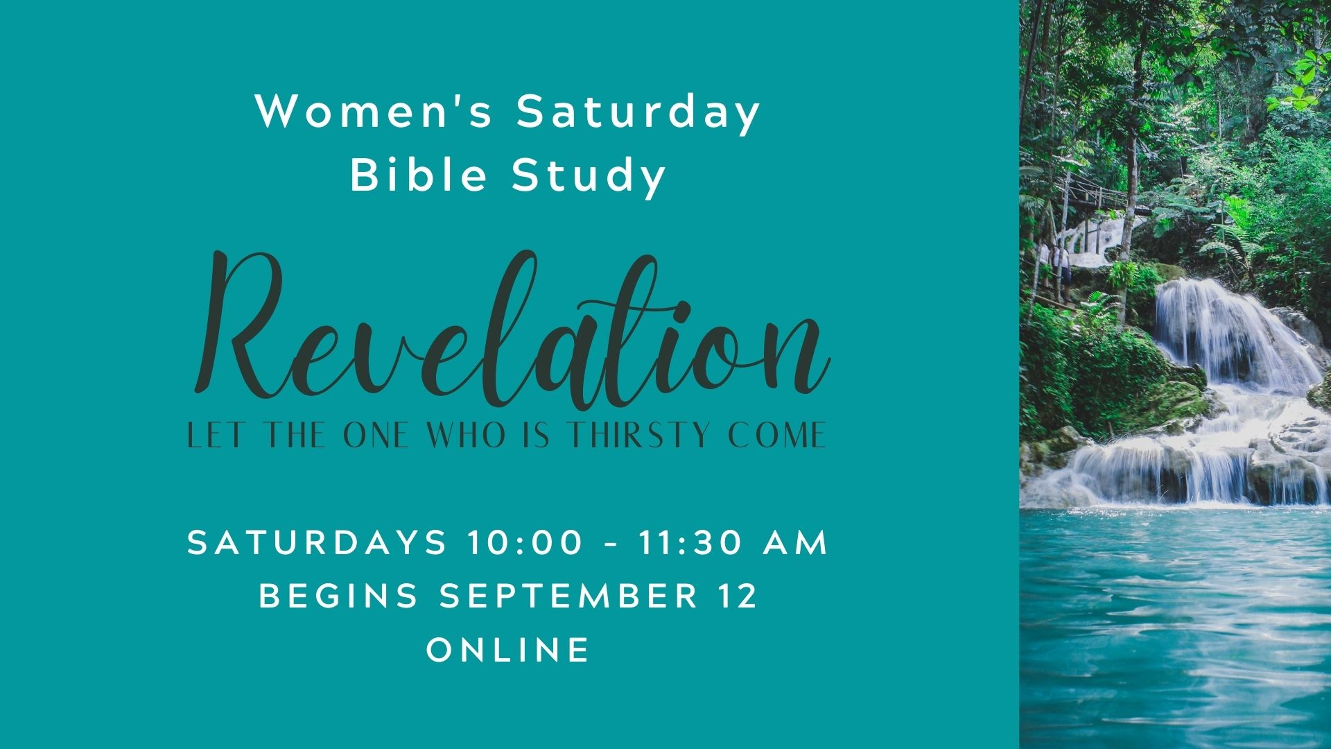 Women's Saturday Bible Study Fall 2020 Screen image