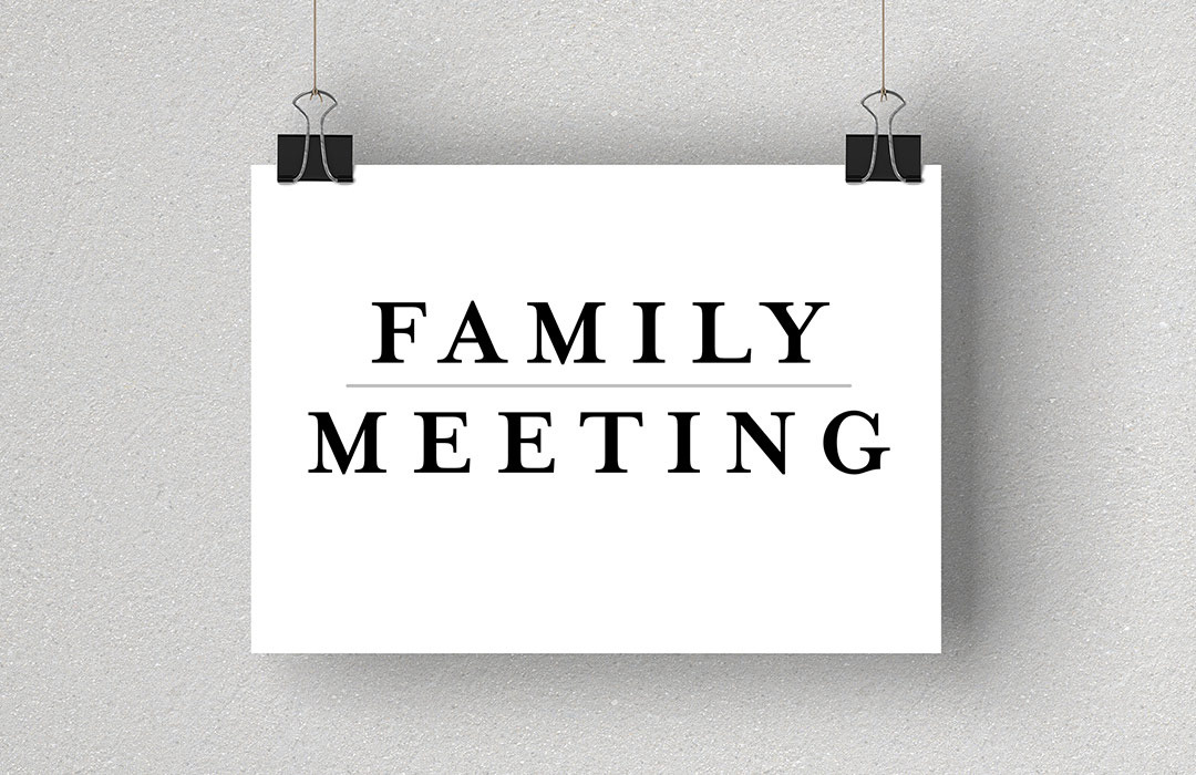 Family meeting website event photo image