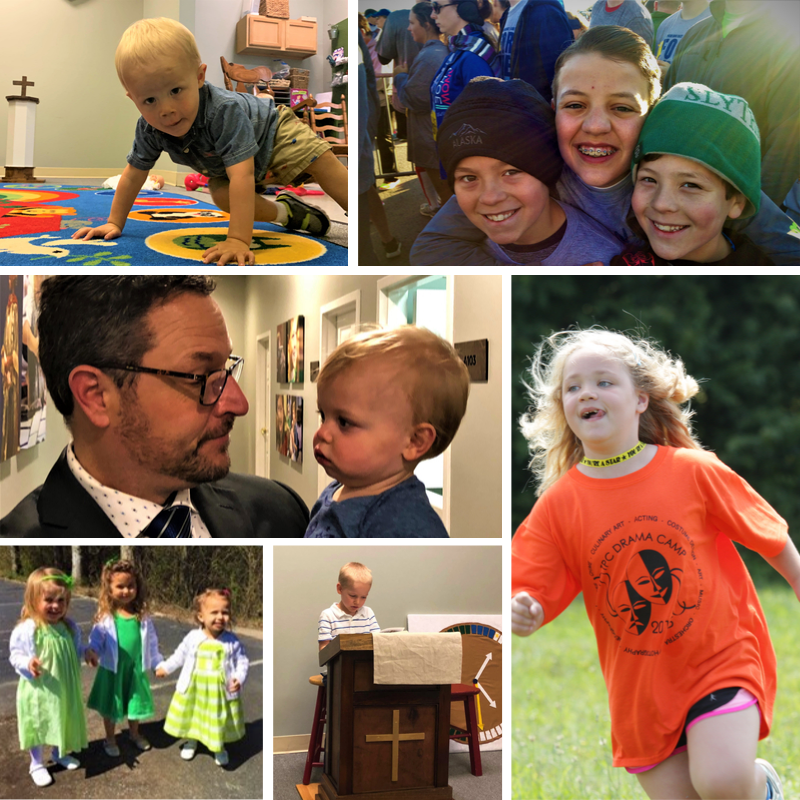 children's ministry collage