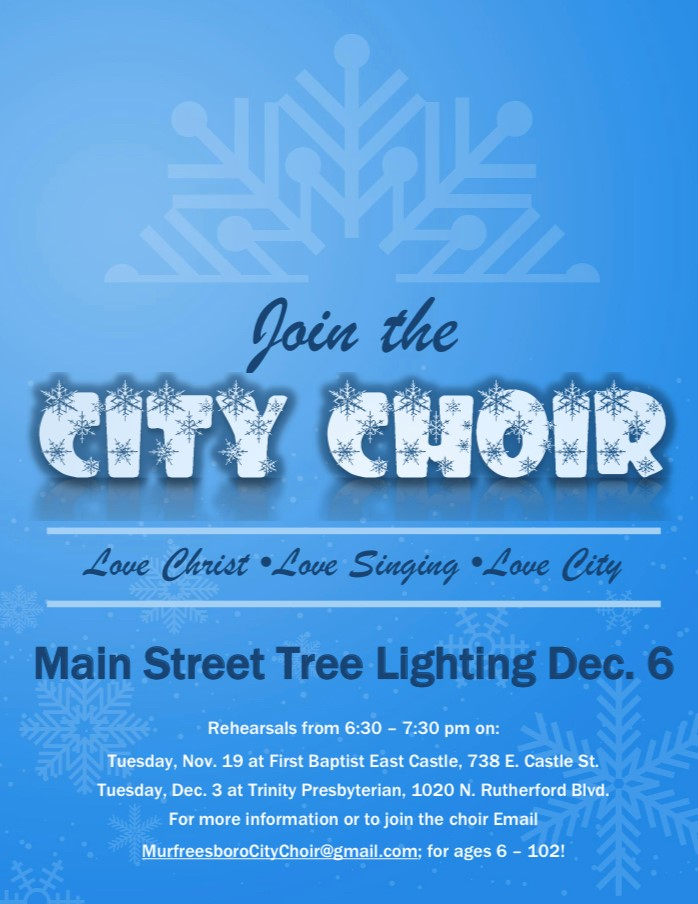 city choir flier