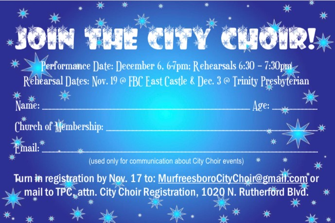 city choir registration