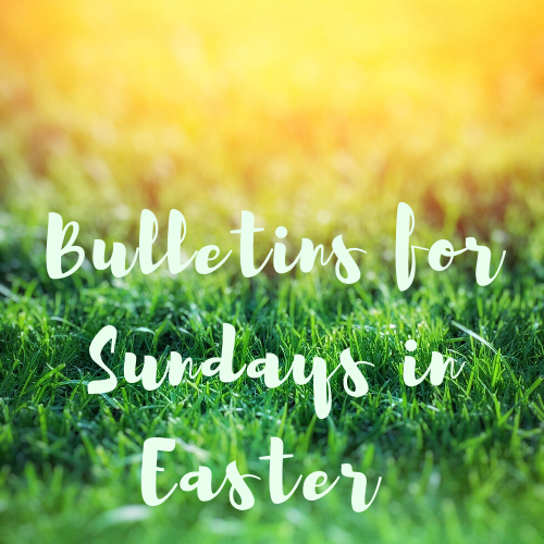 Sundays in Easter Bulletins better icon