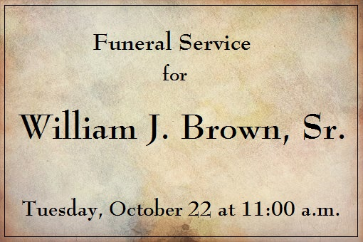 Brown, William funeral image