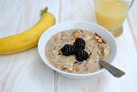 bowl oatmeal juice