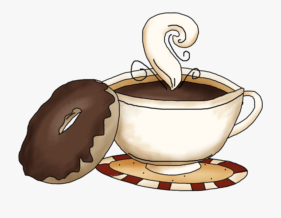 donut and coffee cup graphic