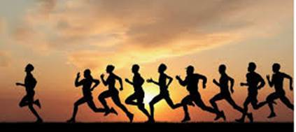 runners silhouette image