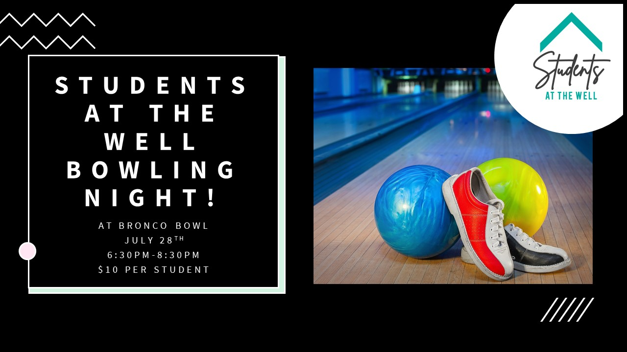 Students at the well Bowling Night!