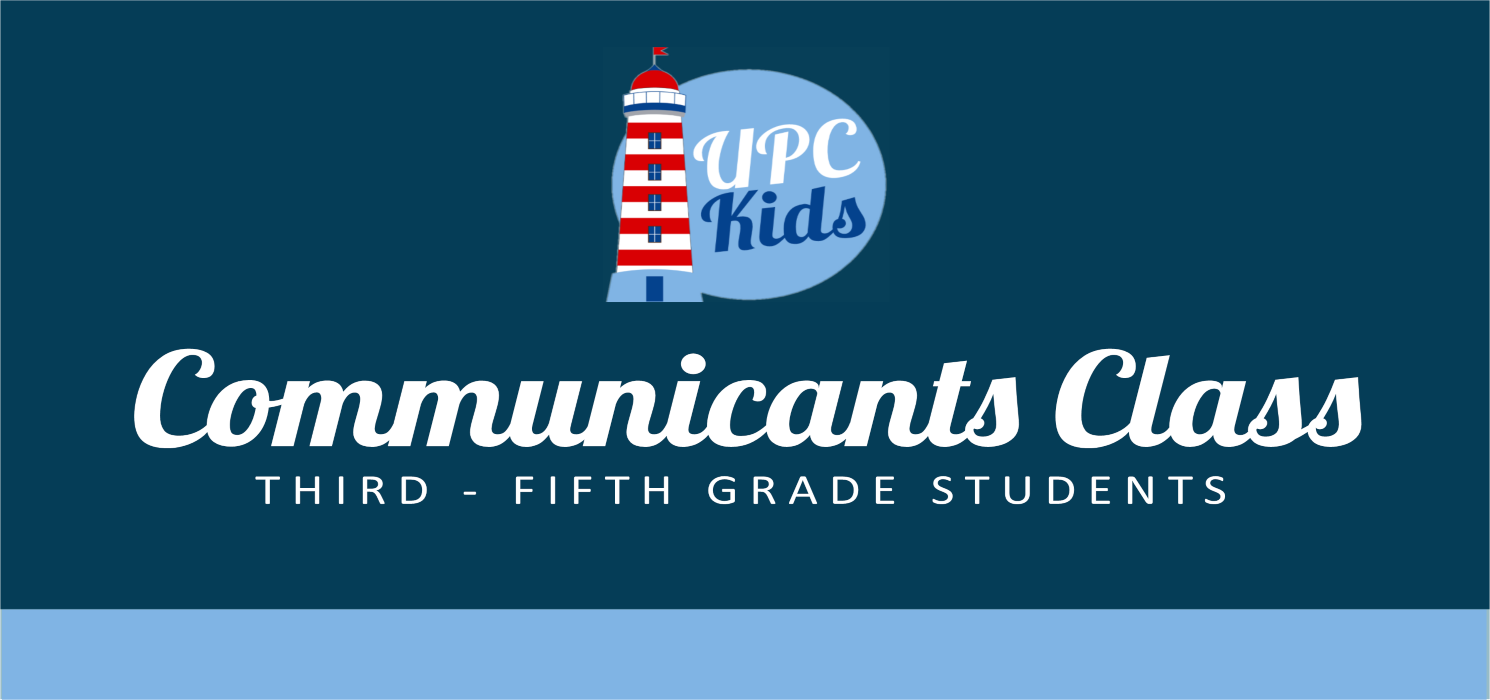 Communicants Class Website Graphic image