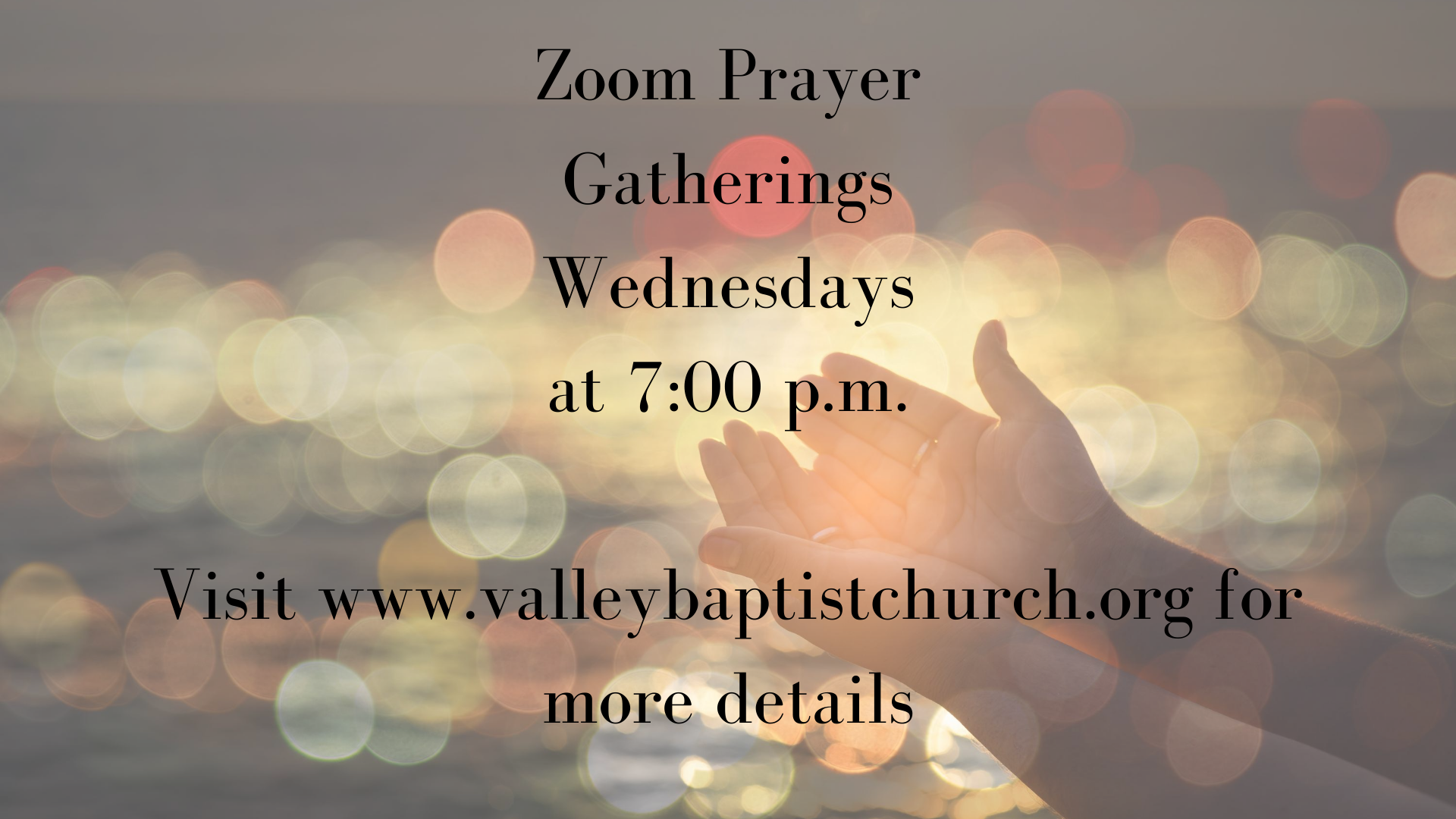 Prayer Gathering announcements image