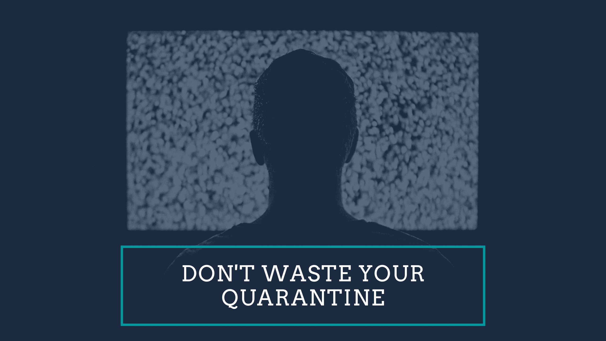 Don't Waste Your Quarantine banner