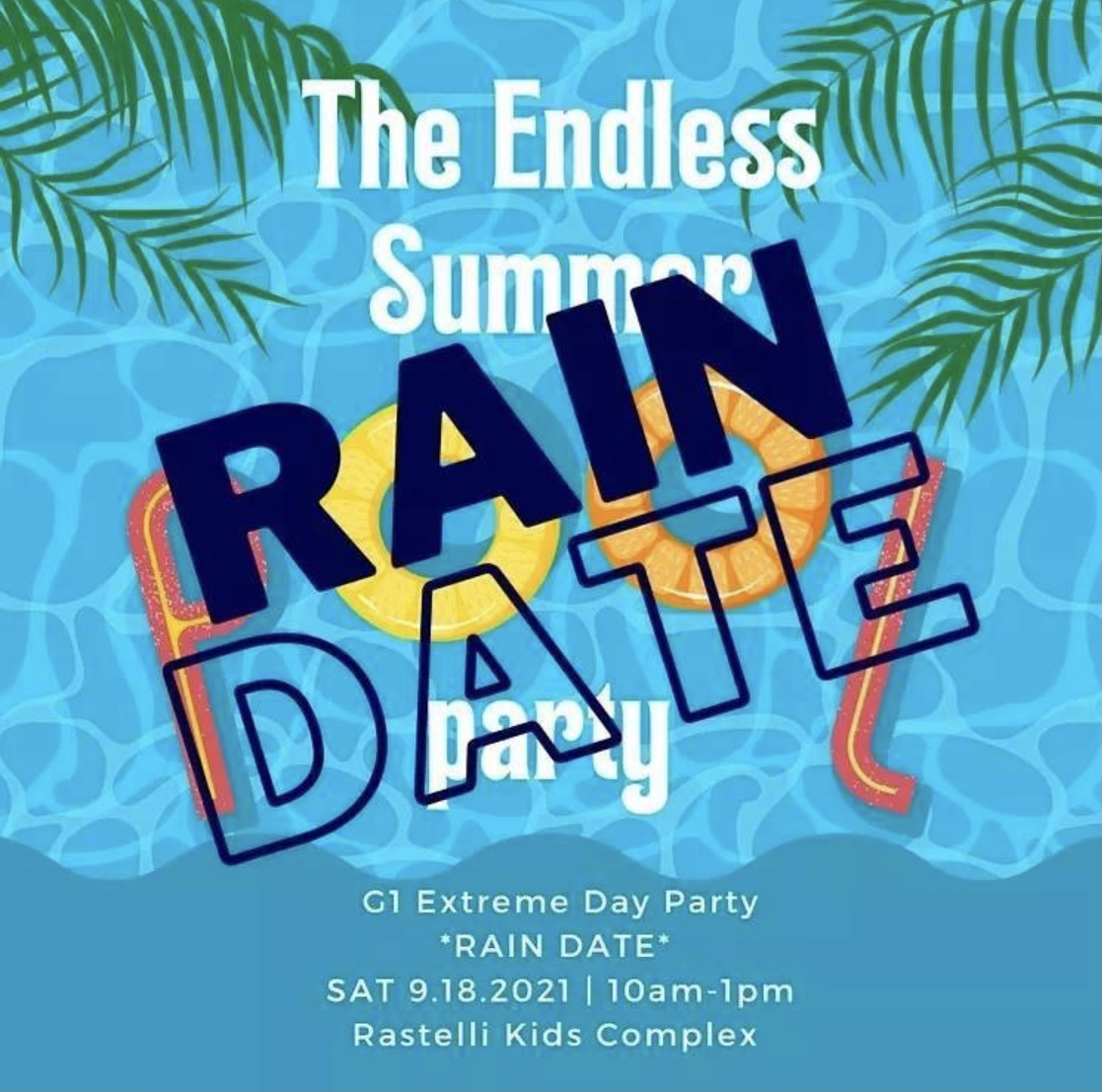 G1 Pool Party Rain Date 2021