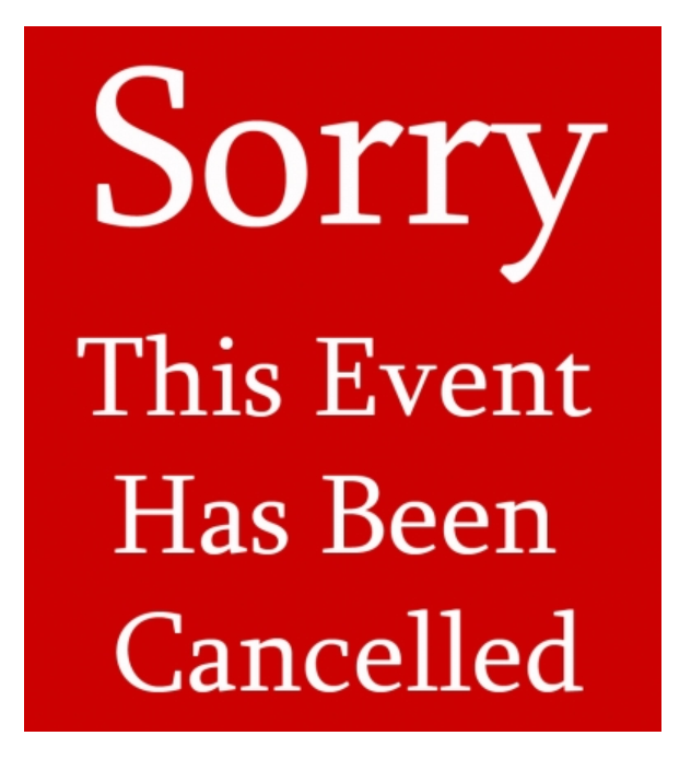 Sorry cancelled image