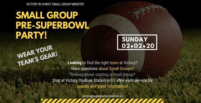 Victory Groups Super Bowl Sunday 2020