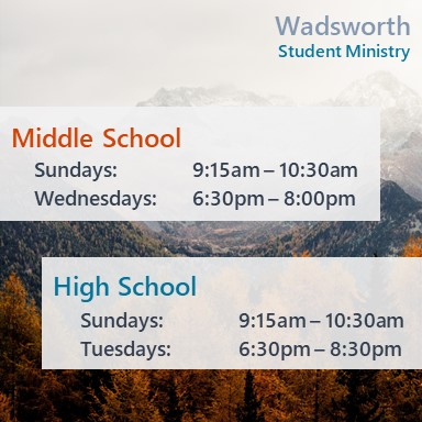 Website Student Ministry Info