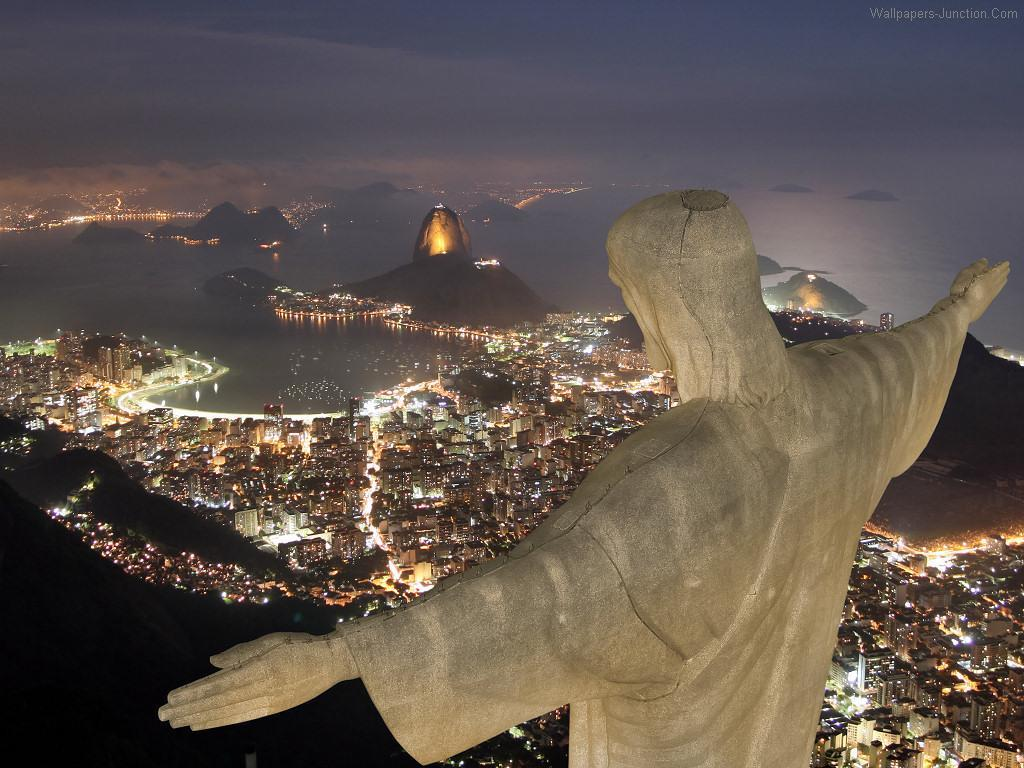 christ the redeemer is a statue of jesus christ in rio de janeiro ...