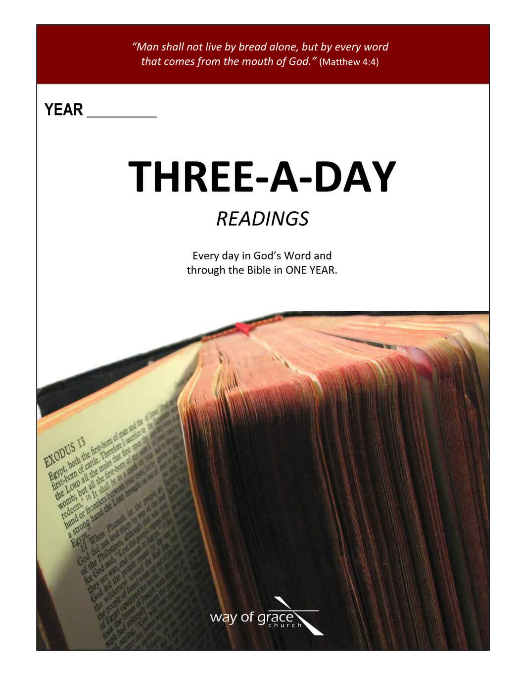 Three-a-Day Calendar Cover