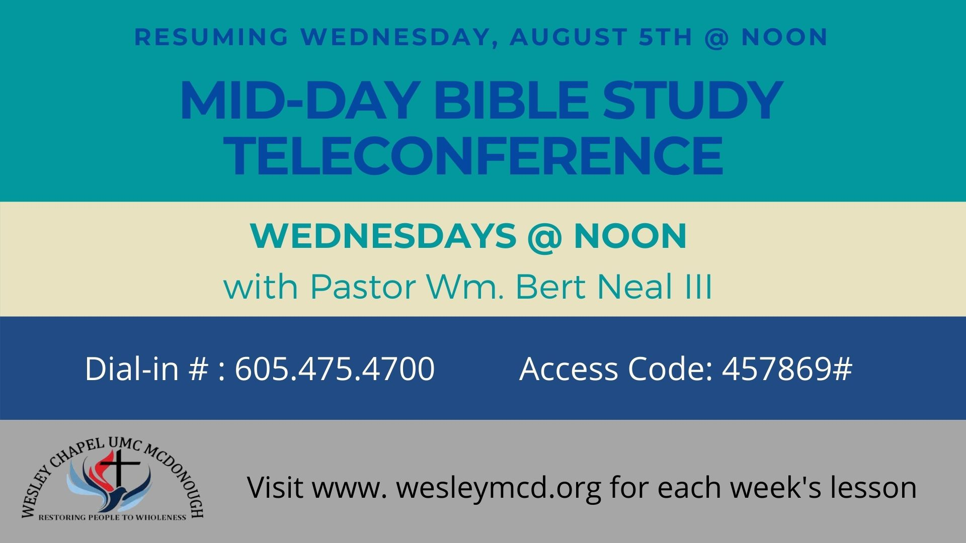 RESUME MID-DAY BIBLE STUDY TELECONFERENCE 77