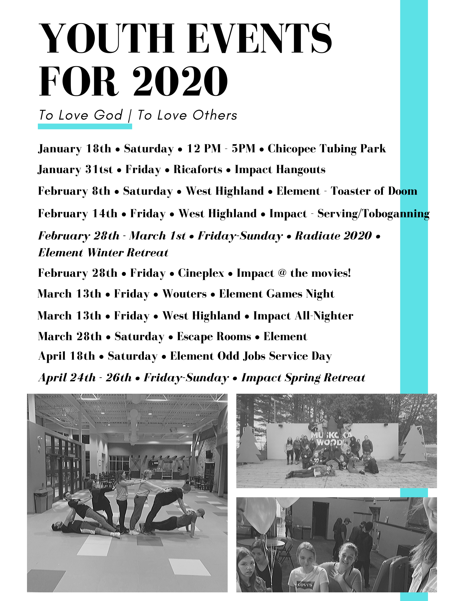 Youth Events for 2020 (v2)