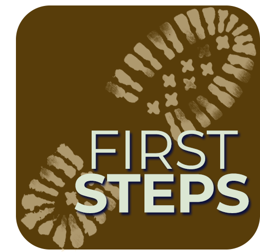 first steps button