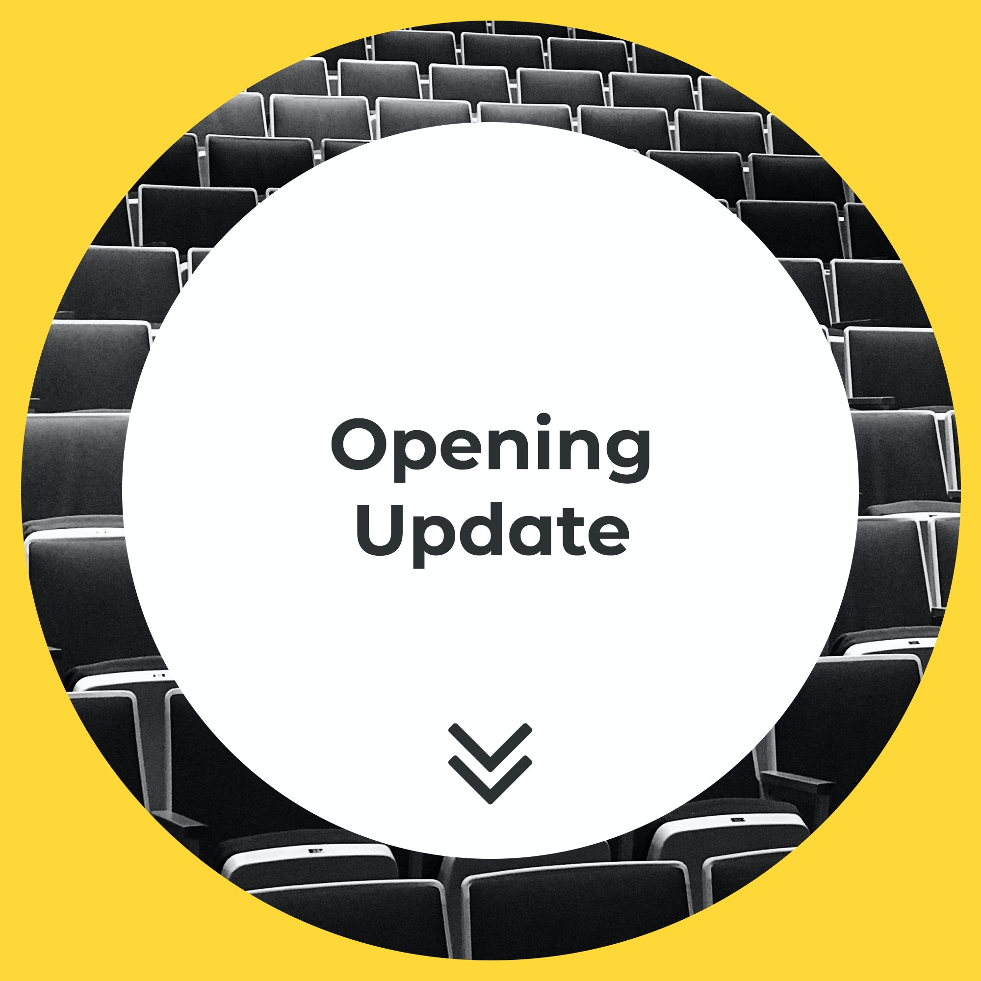 Opening Update Modern Yellow Circles - Title