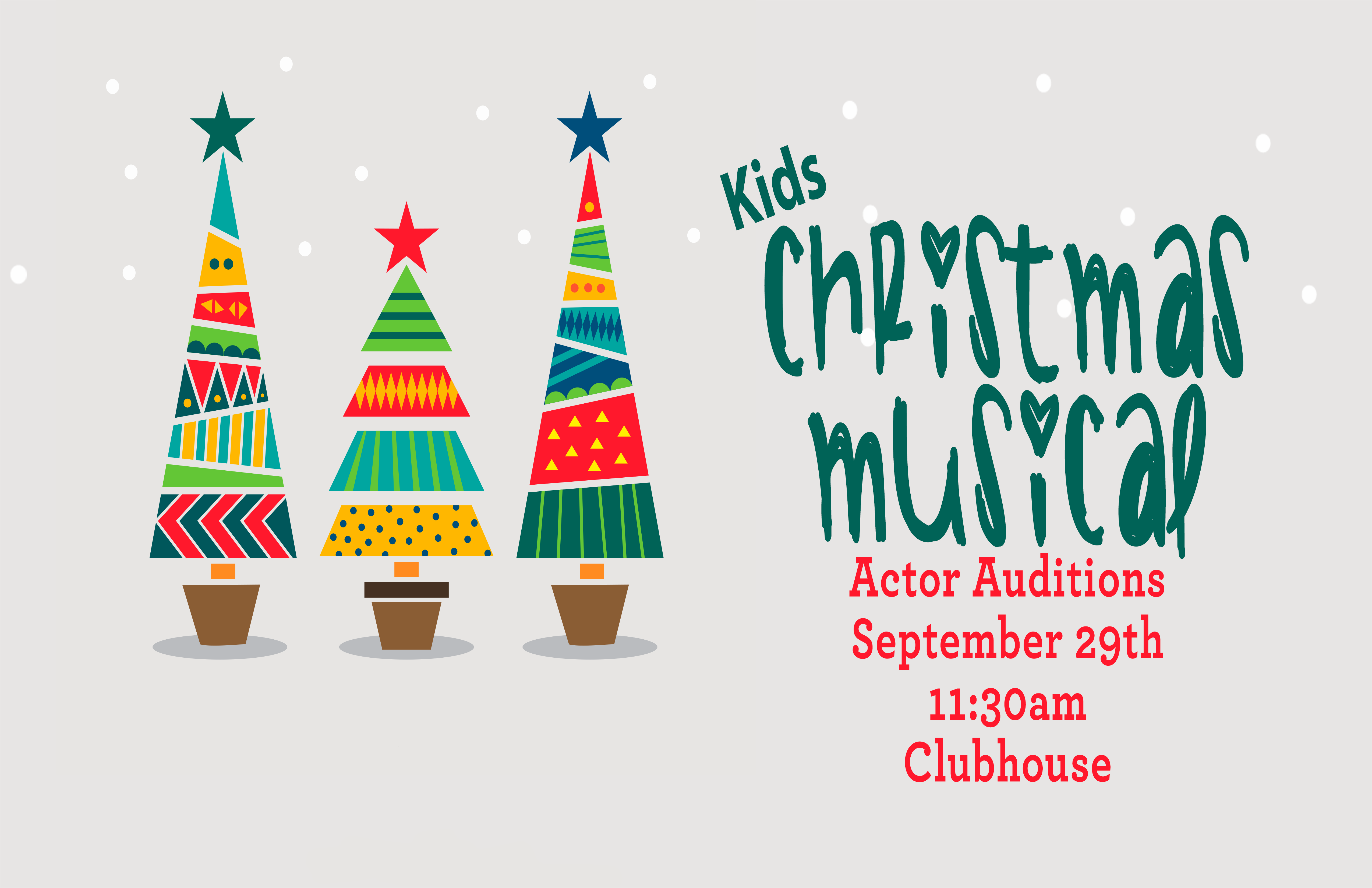 Actor Auditions Christmas Musical image