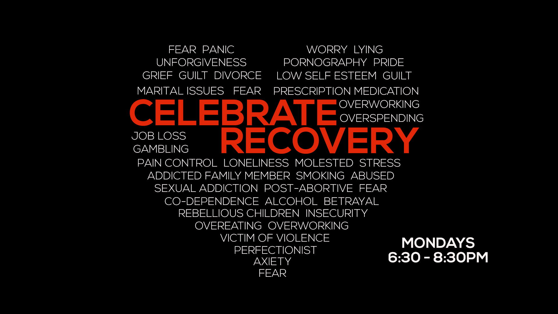 celebrate recovery heart slide image