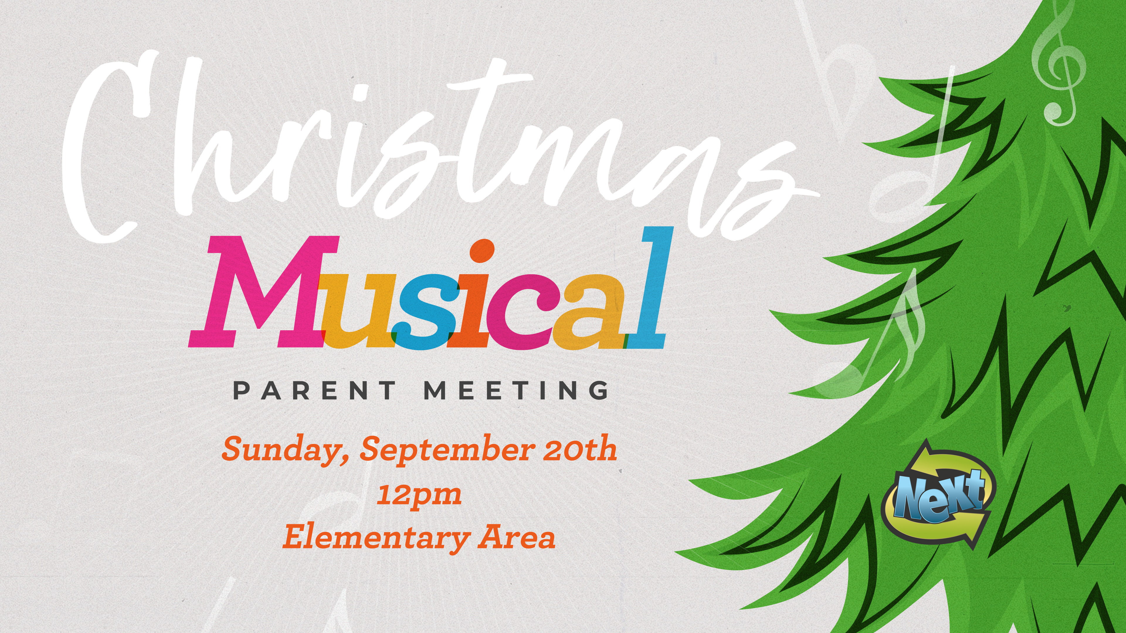 Christmas Musical Graphic 2020- Parent Meeting image