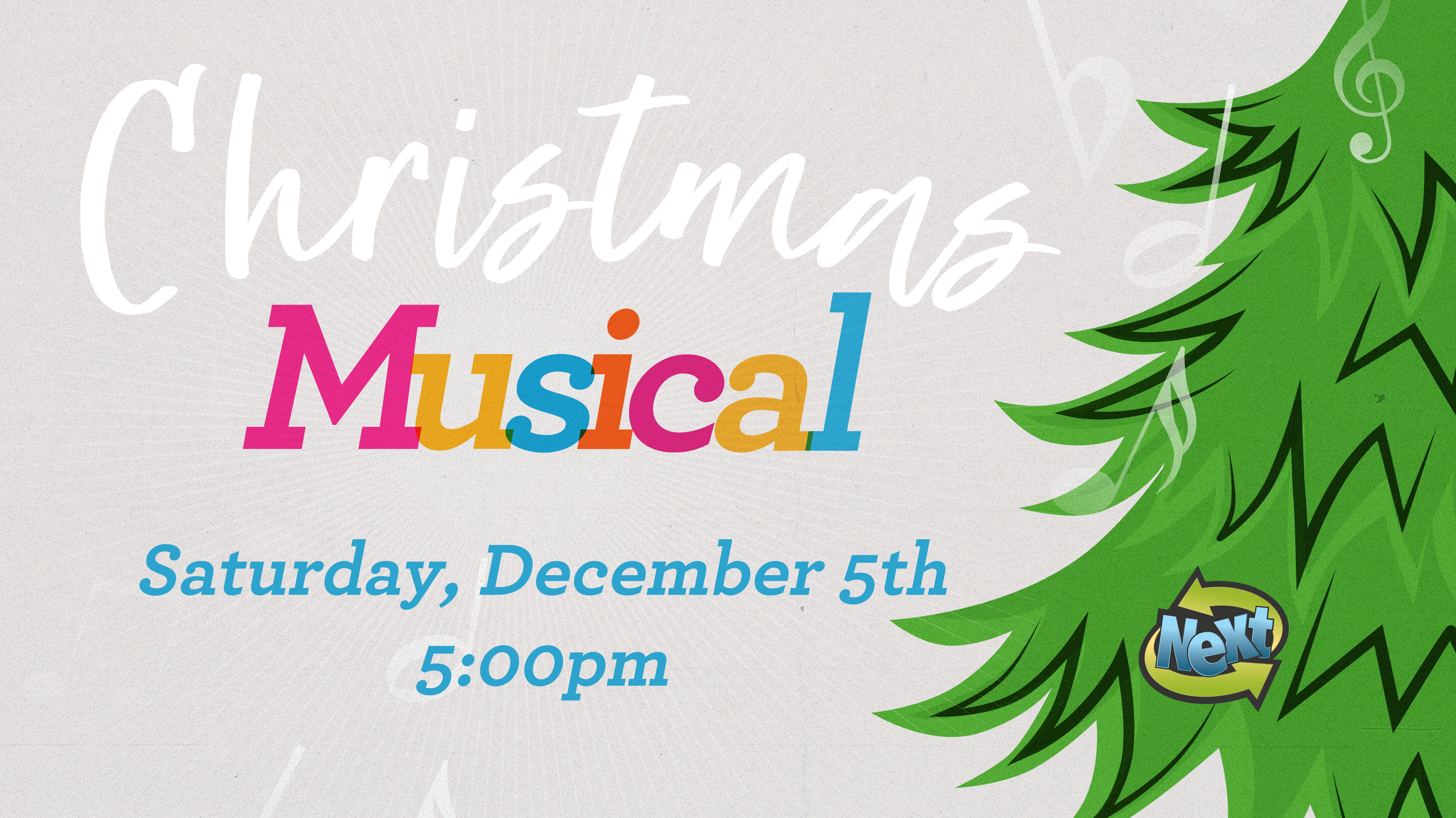 Christmas Musical Graphic Date & Time 2020