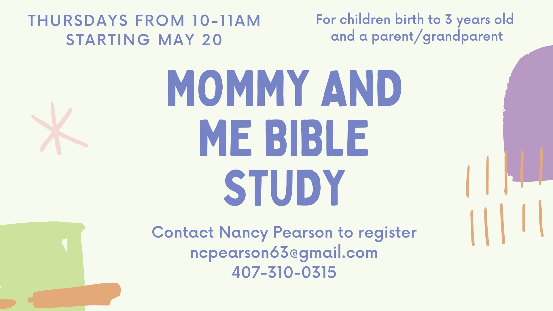 Mommy and Me Bible Study image