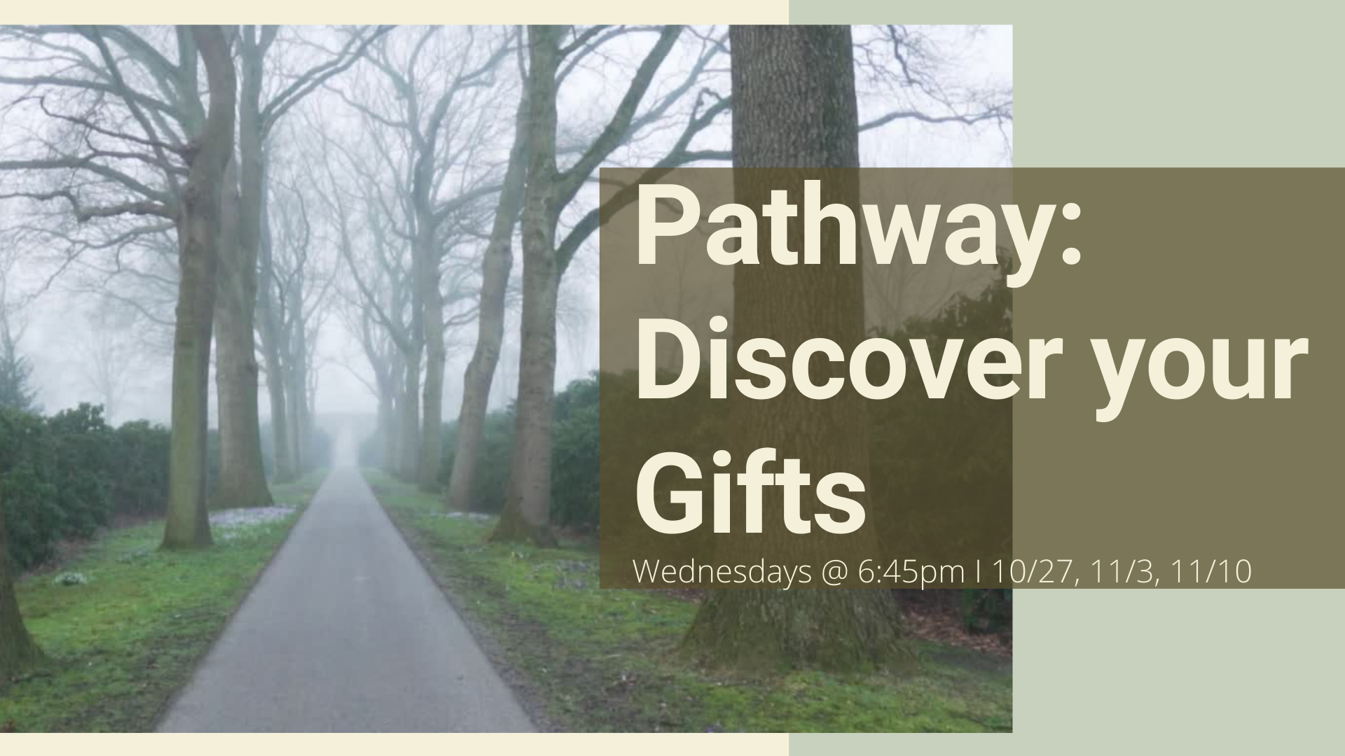 Pathway - Discover your Gifts graphic with details