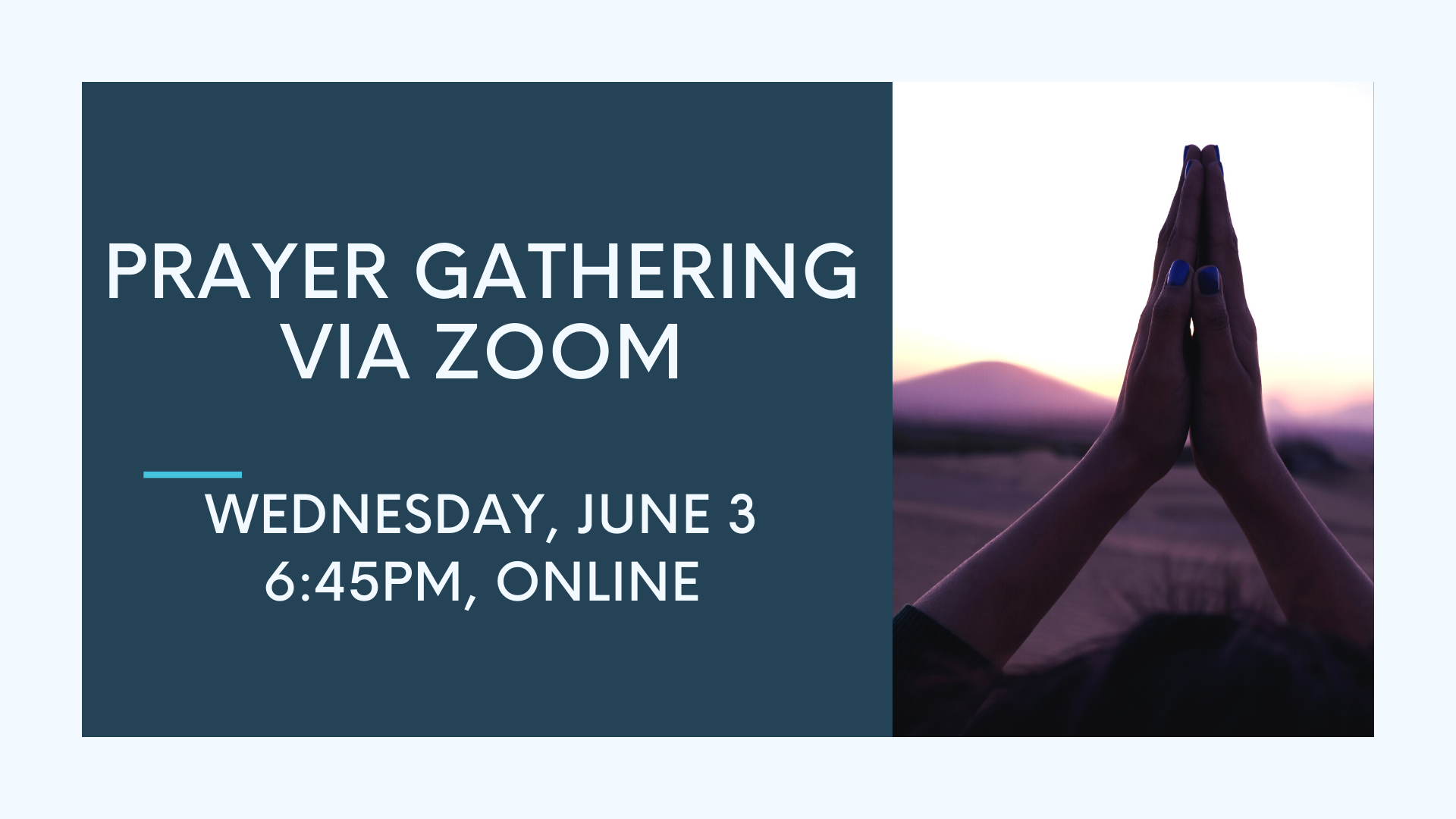 Prayer Gathering, June 3