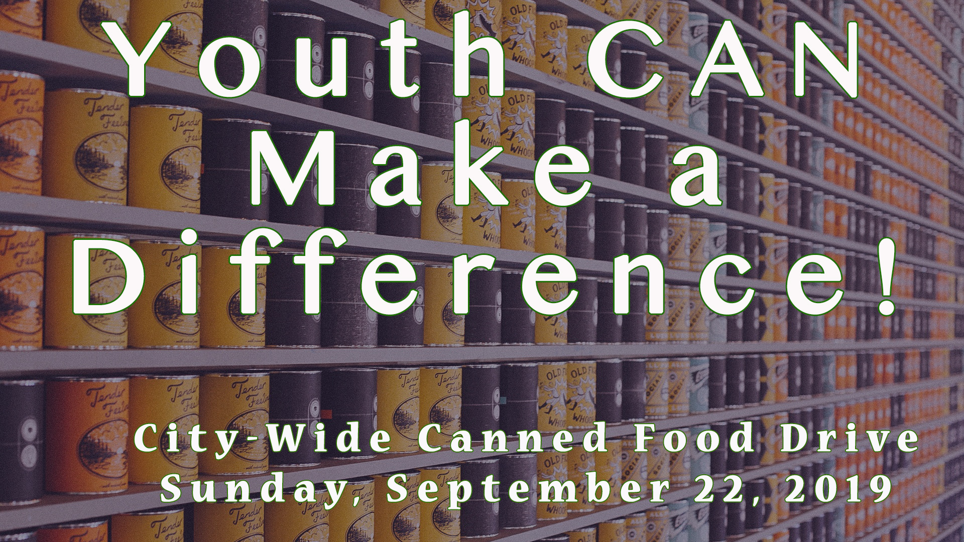 Youth Canned Food Drive 2019
