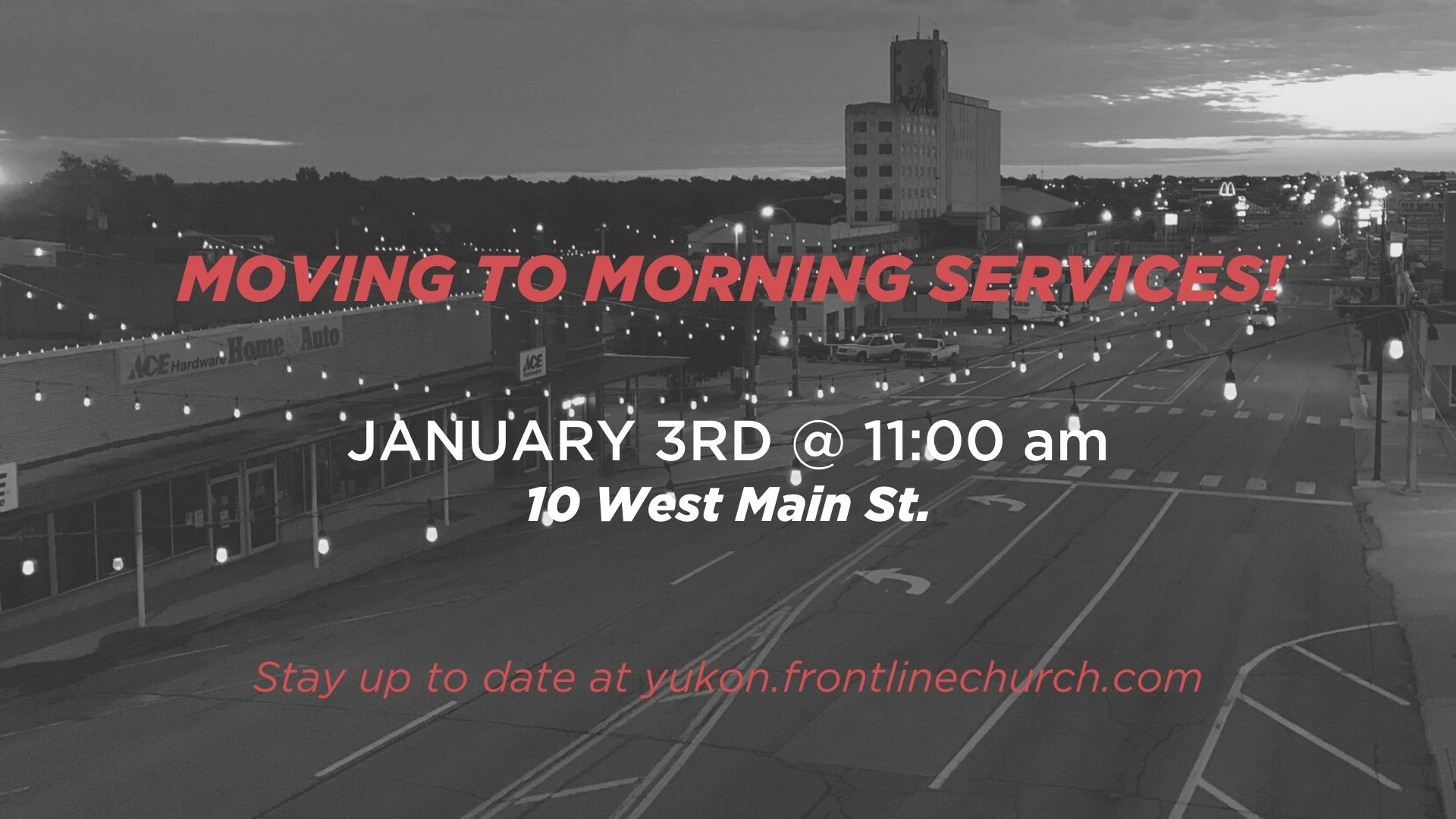 MOVING TO MORNING SERVICES! image
